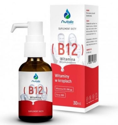 WITAMINA B12 METYLOKOBALAMINA 200 ΜG 30 ML W PŁYNIE KROPLE AVITALE ALINESS